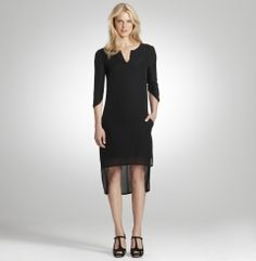 Hi/Lo Solid Woven Dress - FLW - Kenneth Cole
