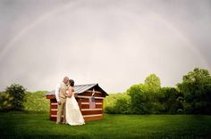 A.S.W. Weddings: The Bride & Groom under the Rainbow ©Amber S. Wallace Photography, North Carolina http://www.facebook.com/amberswallacephotography