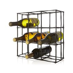 Create a stylish, functional home bar with high-quality bar accessories and tools from Crate and Barrel. Browse wine racks, coasters, jiggers and more. Iron Wine Rack, Wine Racks, Home Bar Accessories, Wine Carafe, Decanter, Wine Bottle Rack, Wine Bottles, Plastic Crates, Rack Design