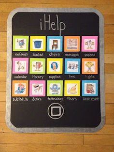 """This is a great way to organize the helpers of the classroom in a new age way that the students will love! This poster provides many jobs for the students to choose from to help around the classroom. Since it is in a """"technology"""" format, the students will love to pick an """"app"""". This will also help the teacher keep the class on task and organized."""