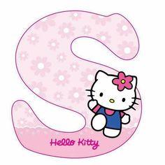 Hello Kitty Crochet, Hello Kitty Art, Hello Kitty Themes, Hello Kitty Birthday Theme, Cat Birthday, Hello Kitty Pictures, Kitty Images, Hello Kitty Invitations, Polka Dot Letters