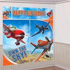 Disney Planes Scene Setter Wall Decorations Kit  Kids Birthday and Party Supplies Decoration ** Visit the image link more details.
