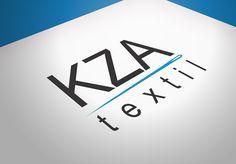 Logo para empresa KZA textil.  Ferramentas ultilizadas: Corel X7, Adobe Photoshop.