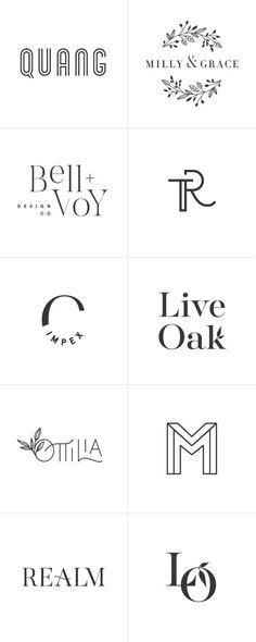 Minimalist black and white logo designs and modern graphic design. Minimalist black and white logo designs and modern graphic design. Minimalist Graphic Design, Graphic Design Typography, Branding Design, Minimalistic Logo Design, Spa Branding, Modern Typography, Business Logo Design, Logo Mexicano, Design Bauhaus