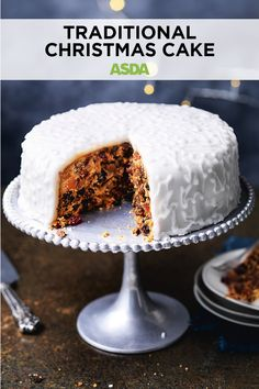 If you've never made a Christmas cake before, this classic recipe is the one for you Classic Recipe, Square Cakes, Cake Tins, Biscuit Recipe, Asda, Something Sweet, Christmas Treats, Christmas Traditions, Quick Easy Meals