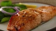 Honey Mustard Glazed Salmon Fillets Recipe : Robin Miller : Food Network