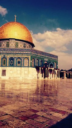 Al Aqsa Mosque Jerusalem – Ayşen Kiraz – Join the world of pin Mosque Architecture, Art And Architecture, Islamic World, Islamic Art, Jerusalem, The Places Youll Go, Places To Visit, Terra Santa, Mosque Silhouette