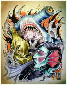 14 Fantastiche Immagini Su Squalo Martello Ink Shark Tattoos E