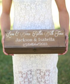 Look what I found on #zulily! 'Better With Time' Personalized Wine Box by Morgann Hill Designs #zulilyfinds
