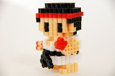 Street Fighter Ryu Perler beads figure. $20.00, via Etsy.