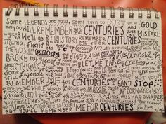 Centuries- Fall Out Boy i am liTERALLY SO OBSESSED WITH THIS SONG I CAN'T EVEN O. MY. GOD.