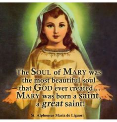 "St. Alphonsus Maria De Liguori - ""The soul of Mary was the most beautiful soul that God ever created..."""
