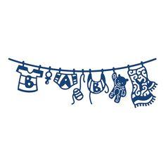 Tattered Lace Metal Dies - Washing Line Baby Boy