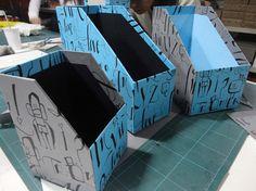 Curso Diseño y armado de Cajas I. Revisteros hechos por alumnos.