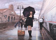 There Are Places to Go by Steve Hanks  I love the undecided and hesitant look on her face; it totally captures what we all go through before we take that first step of faith