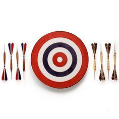 This Belgian Dart Set is handmade and designed for the game of vogelpik, a slight variation on standard darts.