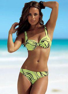 Goldfish Lime Green Print Underwired Bikini