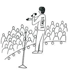 """""""Point Your Face at This"""" Tour and Drawings by Demetri Martin"""