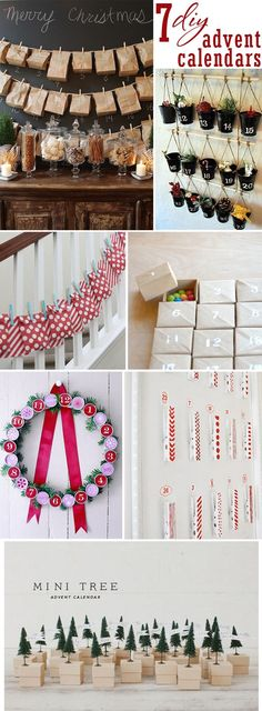 7 DIY advent calendar ideas ~ it's never too late to start counting down! #advent