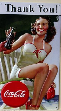 vintage Coca Cola ad bathing suit pin up Pin Up Retro, Pin Up Vintage, Pub Vintage, Images Vintage, Vintage Posters, Retro Ads, Vintage Style, Retro Style, Coca Cola Poster