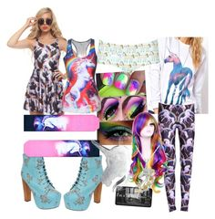 """unicorn obsession"" by jjbear on Polyvore featuring Jeffrey Campbell, CB2 and Topshop"