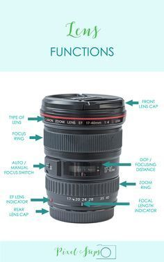 Photography Tips? Learn about camera Lens Functions   photography infographic