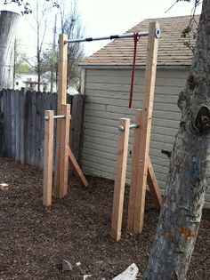 backyard track on pinterest backyard gym outdoor gym and dip bar