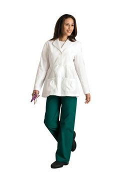 Landau Uniforms | 3 Button Lab Coat | Lab Coats | Clemens Uniform | 8734