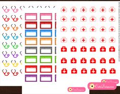 FREE printable medical planner stickers