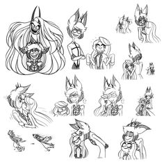 """so uhh I made a bunch of charlastor doodles for about a week for and and uhhh it's a really neat pairing and you have these two to blame for getting me into it Drawing Reference Poses, Art Reference, Monster Hotel, Character Art, Character Design, Hazbin Hotel Angel Dust, Villainous Cartoon, Alastor Hazbin Hotel, H Hotel"