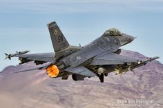 "Mark Von Raesfeld Fighting Falcon Fighter Squadron ""Fighting Fifty Fifth"" at Nellis AFB Military Jets, Military Weapons, Military Aircraft, Air Fighter, Fighter Jets, Airplane Drone, Airplane Fighter, War Jet, F 16 Falcon"