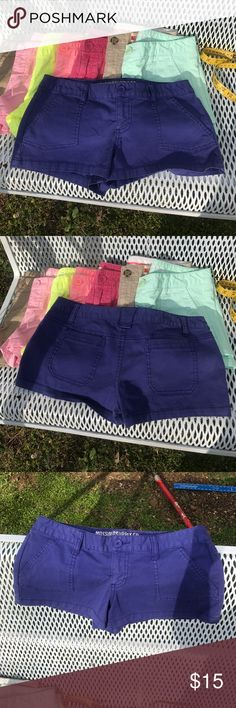 Mossimo blue short shorts size 7 fit 6 GUC Many colors available Mossimo Supply Co Shorts