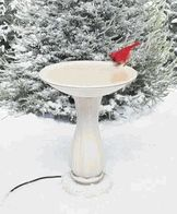Water is essential all year for our feathered friends. It is a little more challenging to provide open water in winter but companies like Allied Precision have made it easier and aesthetically pleasing. Get help overcoming the challenges. From: wildbirdscoop.com