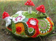 Freeform Mushroom Clearing Pillow from Svyazka on Etsy