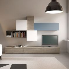 The house is a set of atmospheres that blend together and that Living Room Wall Units, Ikea Living Room, Living Room Cabinets, Interior Design Living Room, Living Room Designs, Living Room Furniture, Muebles Living, Tv Wall Decor, Furniture Design