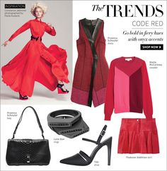Code Red: Go Bold in Fiery Hues with Onyx Accents at #ShopBAZAAR.