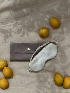 Silk eye mask by Dariia Day made form pure mulberry 25 momme weight silk in Powder White, perfect for Summer #bydariiaday #silk #eyemask #white #sleep #travel #mulberry #lemon