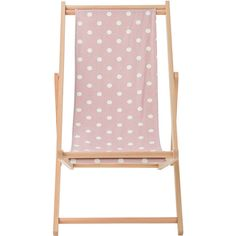 Bloomingville Deck Chair - Mauve Dots (€210) ❤ liked on Polyvore featuring home, outdoors, patio furniture, outdoor chairs, outdoor, purple, bloomingville, outdoor folding chairs, outdoor garden furniture and folding garden furniture