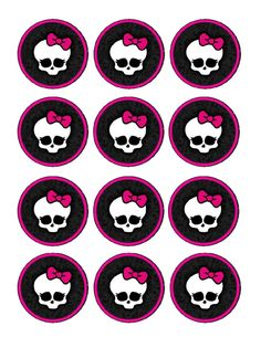 Monster High Edible Party Cupcake Toppers Cupcake Image Sheet | eBay