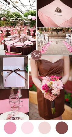 51 best Pink and Brown Wedding images on Pinterest | Brown, Brown ...