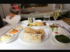 Emirates first class food. Like if you think it's tasty. Would you eat this?