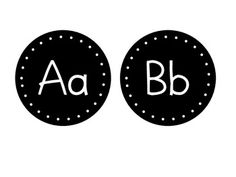 Simple Black and White circle letters to be used on your classroom word wall or for whatever other possibilities you can think of! Just print on white card-stock, laminate, and cut!