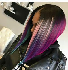 2018 Winter Hair Color Ideas for Black Women. Bold and Vibrant hair color shades for the winter 2018 season. This winter it's time to break free from mundane hair shades of black and brown an… Bold Hair Color, Vibrant Hair Colors, Hair Color Shades, Bright Hair, Colorful Hair, Pretty Hairstyles, Bob Hairstyles, Braided Hairstyles, Hairdos