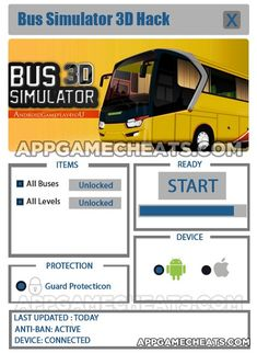 Bus Simulator 3D Hack & Tips for All Buses & All Levels Unlock  #BusSimulator #Simulation #Strategy http://appgamecheats.com/bus-simulator-3d-hack-tips-buses-levels-unlock/
