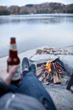 c9-An Australian Christmas - mylusciouslife.com - bonfire camping beer.jpg