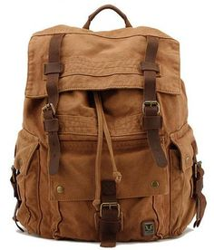 Men's Bags United Mens Vertical Canvas Computer Backpack Outdoor Large Capacity Backpack Crazy Horse Leather Retro Multifunction Bag Big Clearance Sale