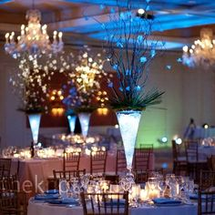 glowing centerpieces | Does anyone know what may have been used to make this centerpiece glow ...