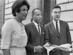 Art print POSTER Canvas James Meredith Posing with Constance Baker Motley