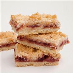 Raspberry Streusel Bars #cookies #modernbite