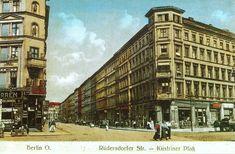 Küstriner Platz, Rüdersdorfer Straße, um 1900: